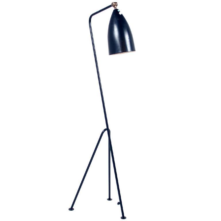 Storslått Original Black Greta Grossman Grasshopper Lamp For Sale at 1stdibs OY-01