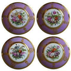"Set of Four ""Popov"" Dessert Plates"