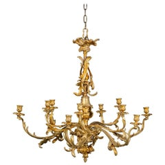 Chandelier French Large Brass 19th Century, France