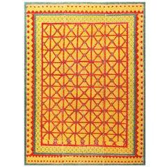 Funky Antique Spanish Alpujarra Rug. Size: 5 ft 8 in x 7 ft (1.73 m x 2.13 m)