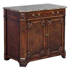 Mahogany Marble-Top Chest Cabinet by EJ Victor