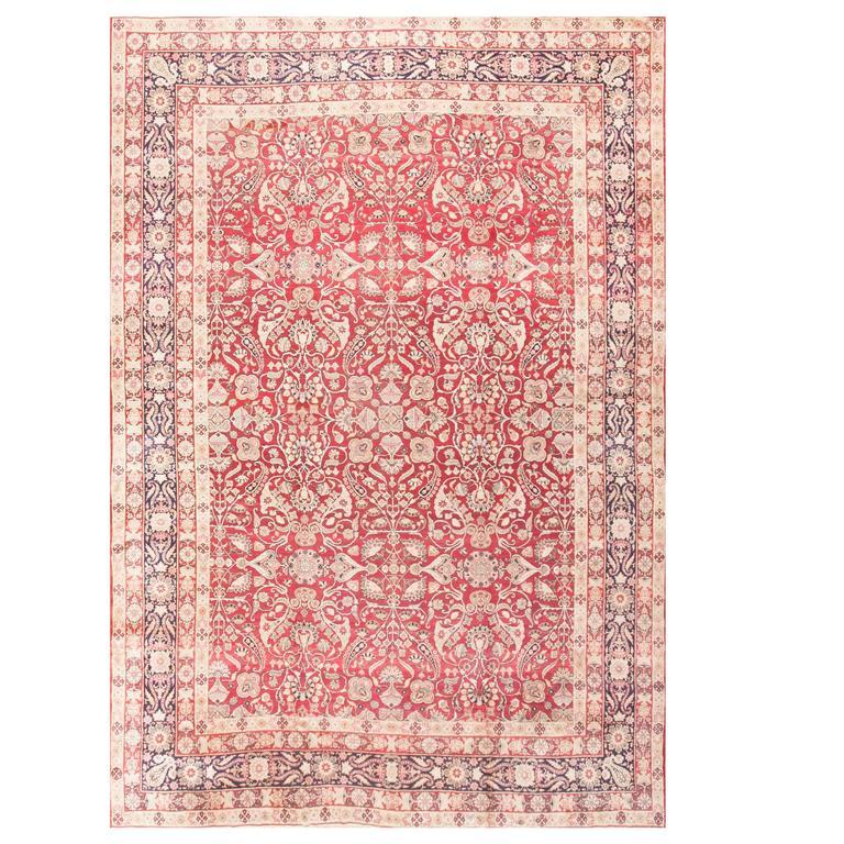 Fine Antique Floral Kerman Rug For Sale At 1stdibs