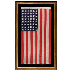 48 Star, U.S Navy Small Boat Ensign Flag, Made At Mare Island California