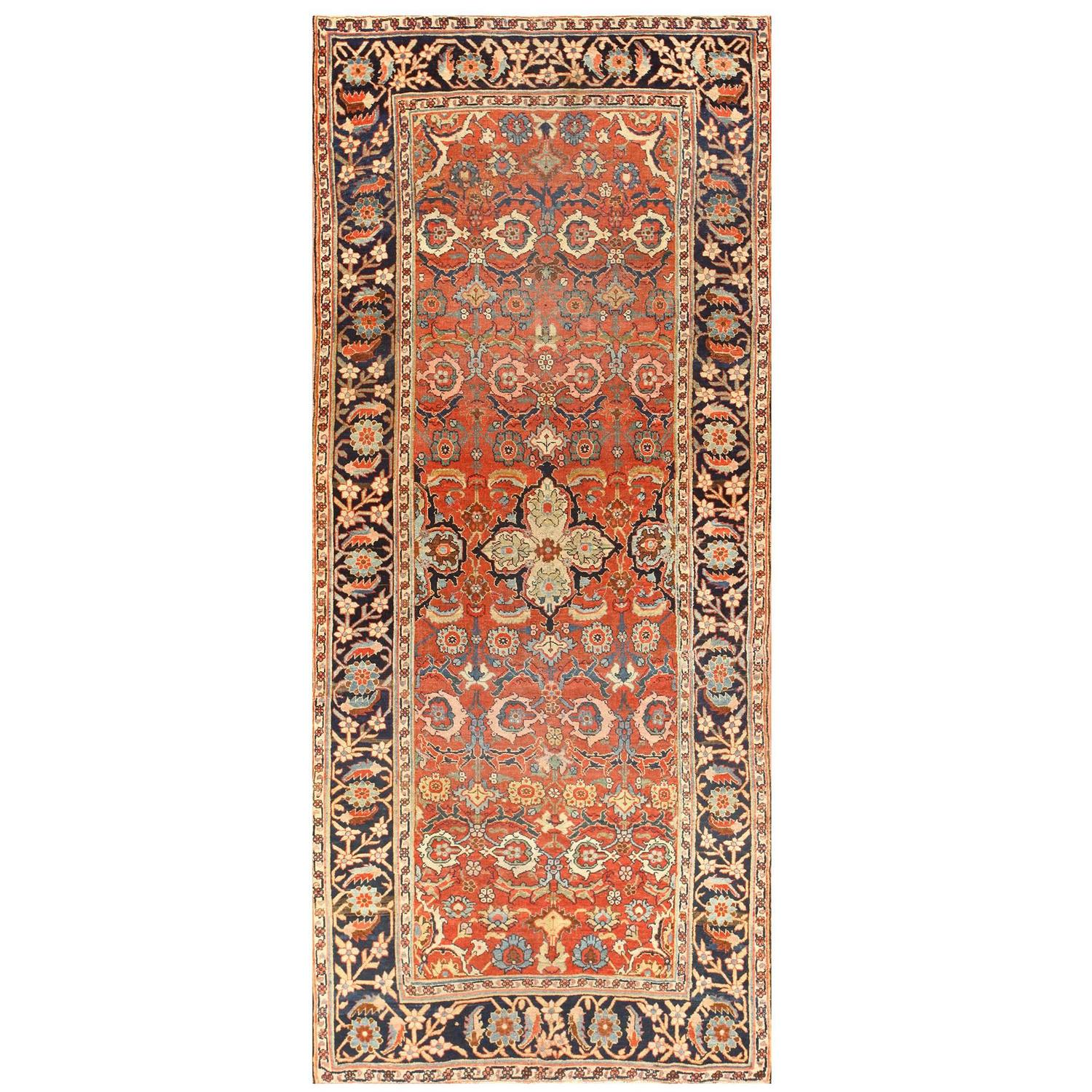 Antique Persian Bidjar Gallery Runner Rug at 1stdibs