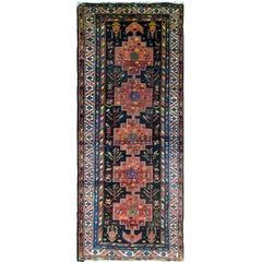 Antique Persian Bakhtiari, Gallery size Runner