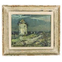 Abel Bertram French Landscape Oil on Board