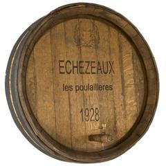 Period Burdundy Wine Casket Face with Spigot