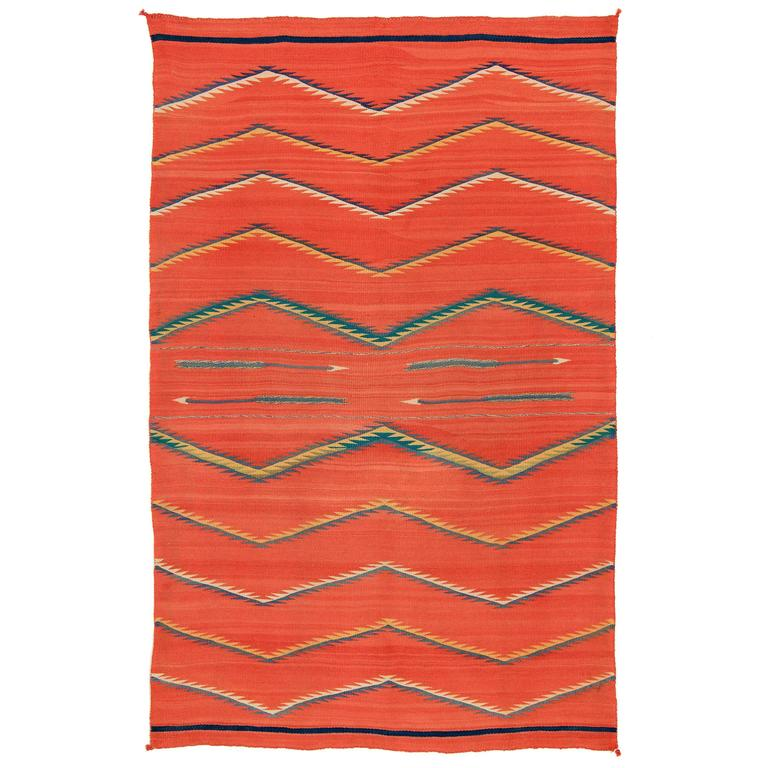 Native American Transitional Blanket, Navajo, circa 1875-1900 For Sale