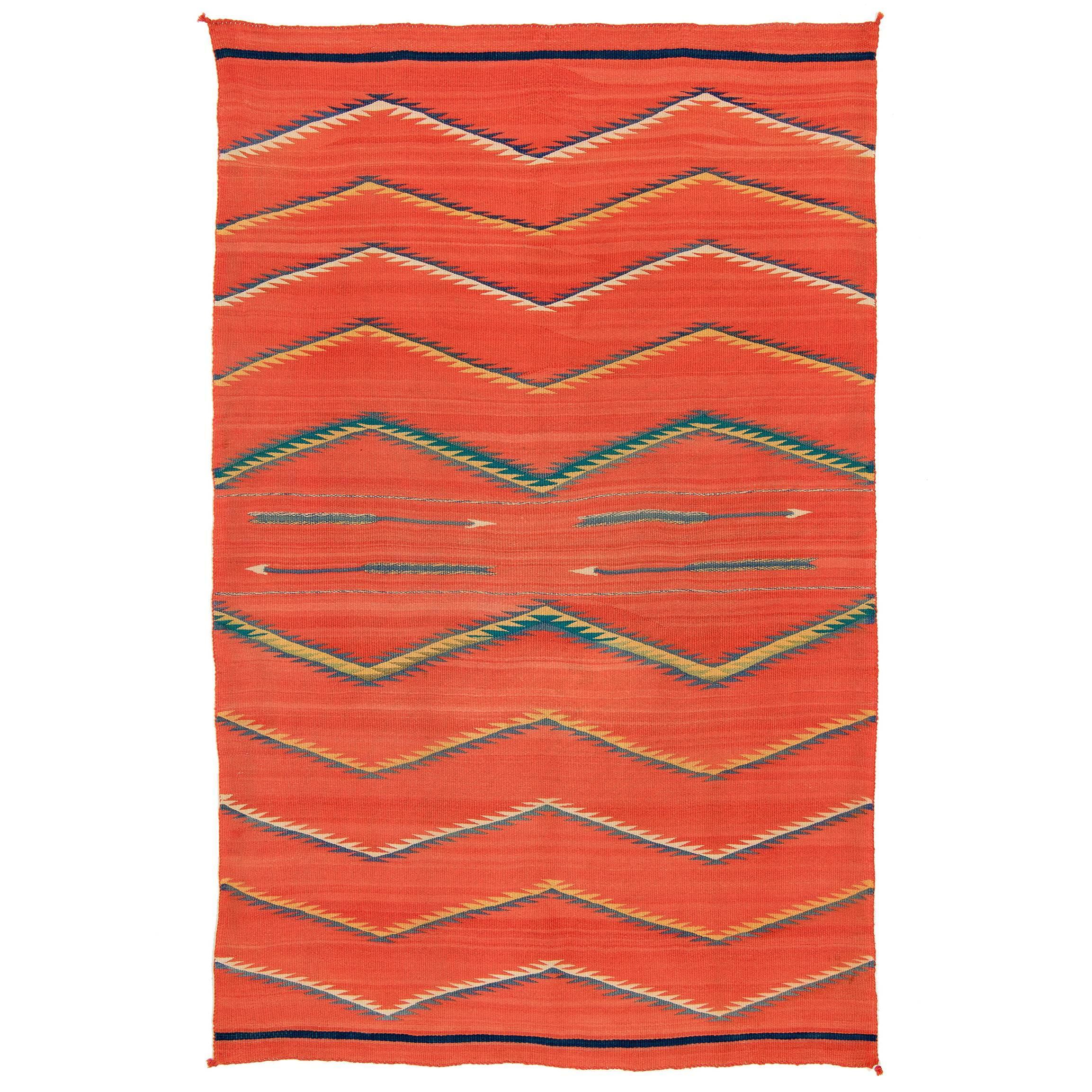 Native American Transitional Blanket, Navajo, circa 1875-1900