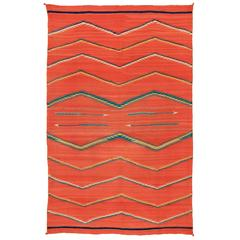 Native American Transitional Blanket, Navajo, circa 1875-1900