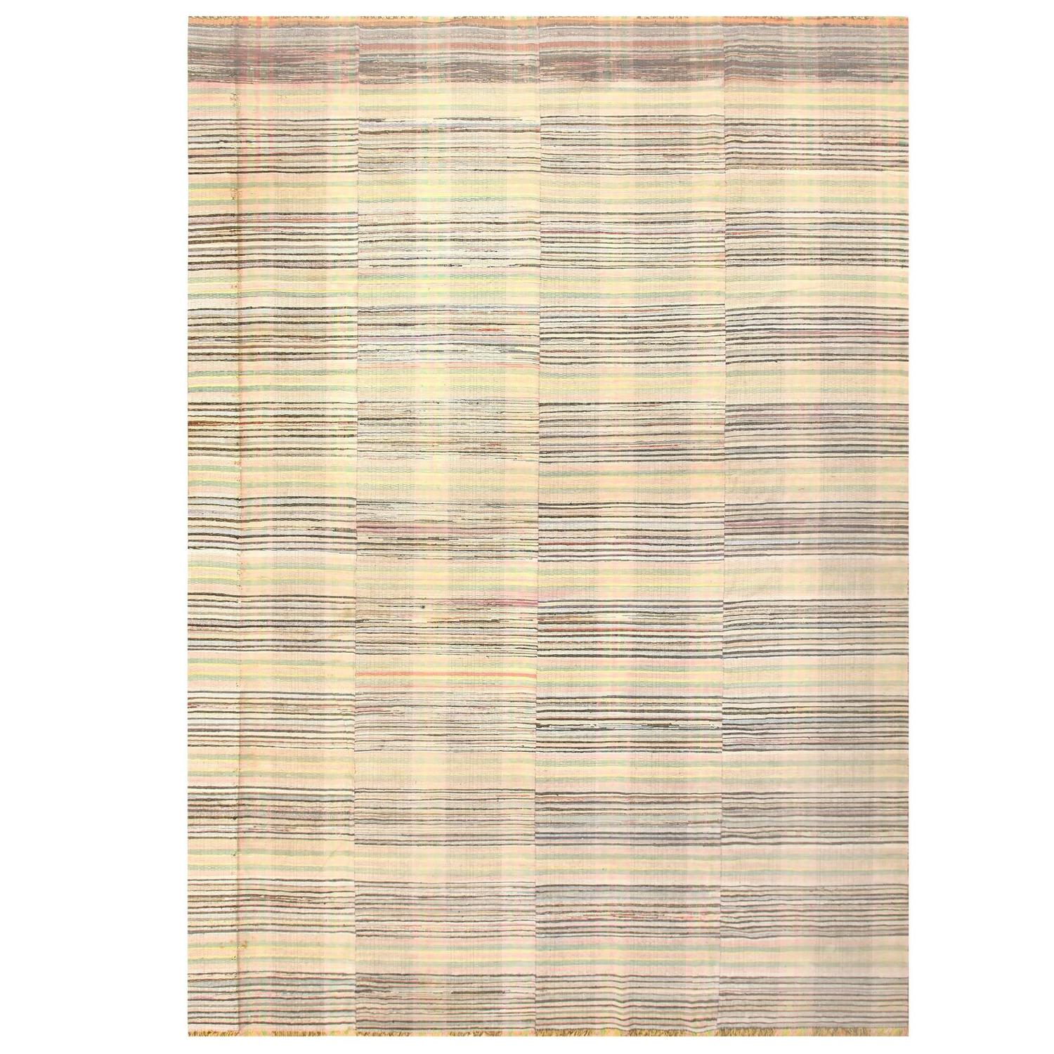 Beautiful Large Antique American Rag Rug For Sale At 1stdibs