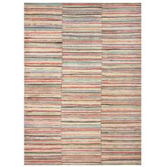 Antique American Large Rag Rug