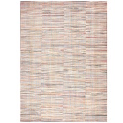 Rustic Antique America Rag Rug. Size: 12 ft 9 in x 17 ft 4 in (3.89 m x 5.28 m)