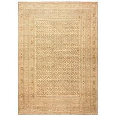 Large Brown Antique Persian Khorassan Rug