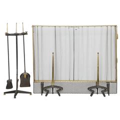 Donald Deskey Fireplace Set