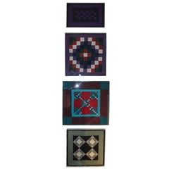 Collection of Four Rare Pennsylvania Amish Doll Quilts
