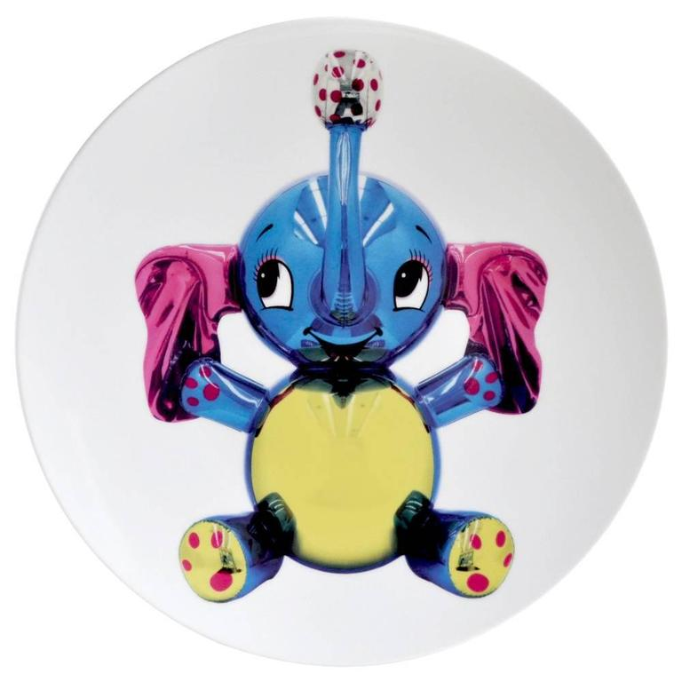 Elephant Plate by Jeff Koons For Sale