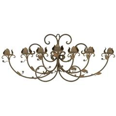 Large 19th Century Forged Iron Sconce
