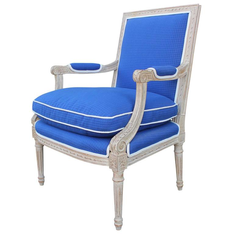 Louis Xvi Style Lounge Chair At 1stdibs