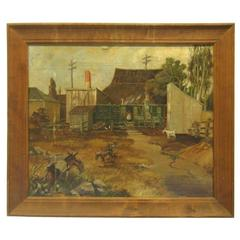 Victor Basinet Painting of Old California