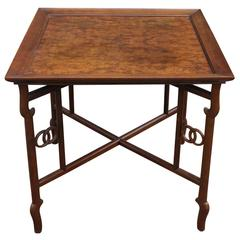 Baker Far East Collection Burl Occasional Table