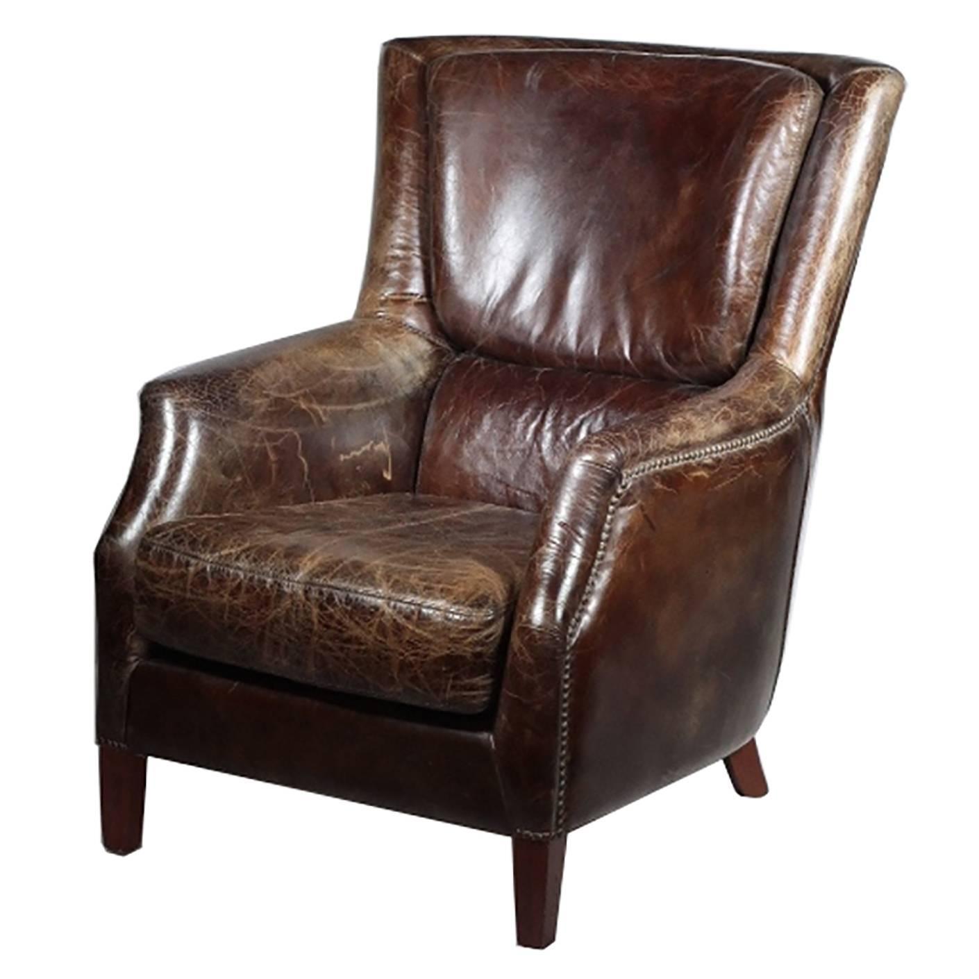 Custom High Grade Leather Chair At 1stdibs