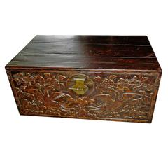 Camphor Trunk with Carved Front