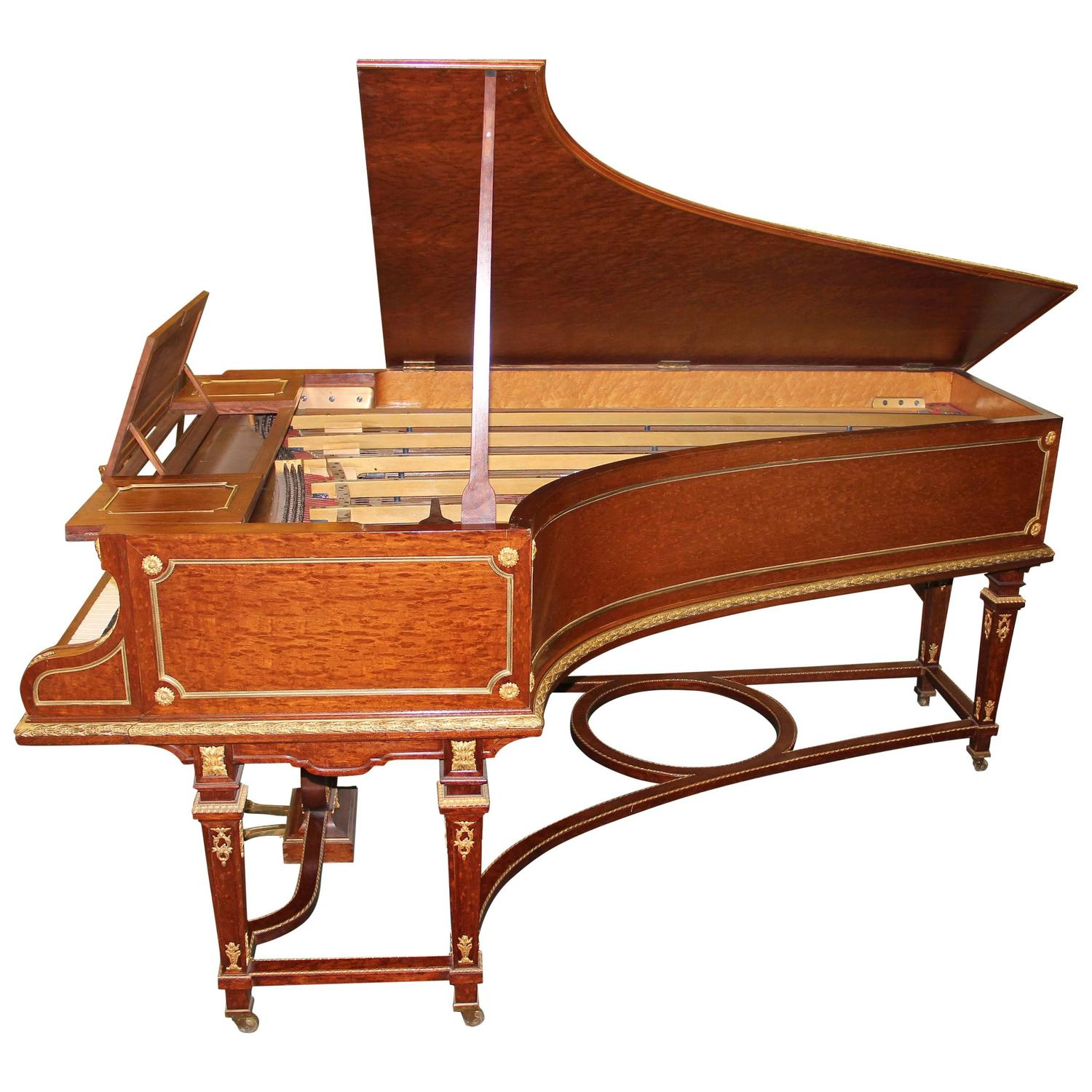 Turn of the century furniture - Wonderful Turn Of The Century Gilt Bronze Mounted Grand Erard Piano For Sale At 1stdibs