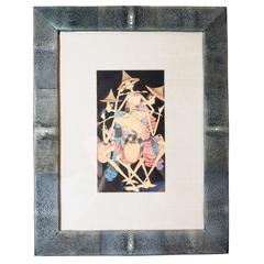 Balinese Painting Framed in Shagreen