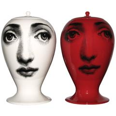 "Piero Fornasetti, ""Buona Notte"" Pair of Jars"