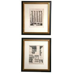 Pair of Architectural Prints, 19th Century, London, England