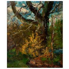 """Forest Landscape,"" Oil on Canvas by Erik Mogens Vantore"