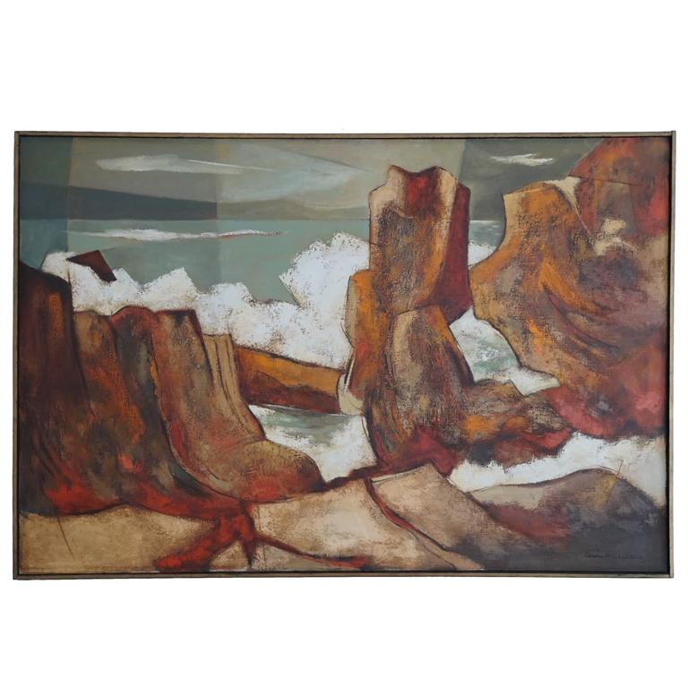 1960s Oil Painting by Darwin Musselman For Sale