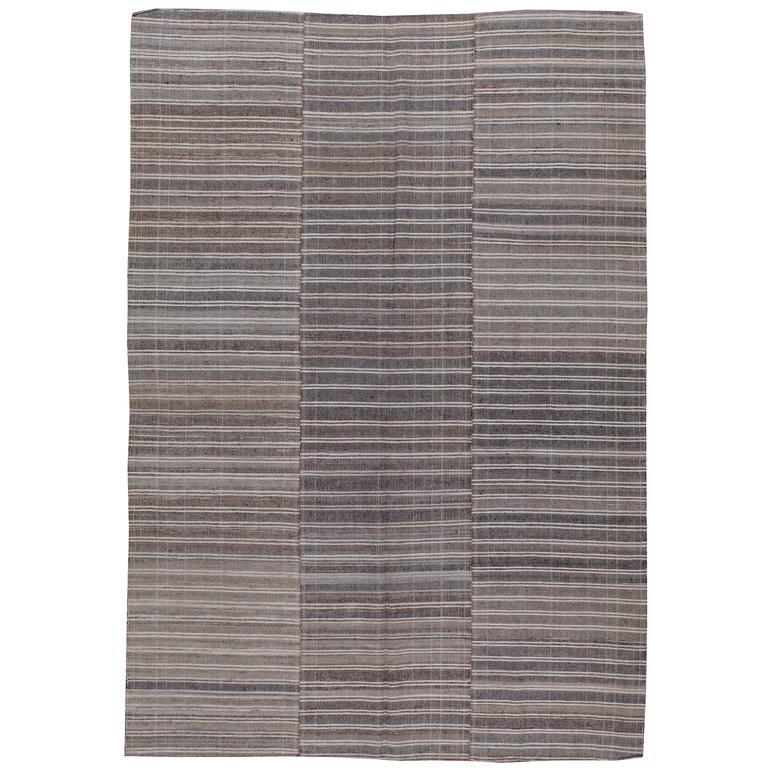 Vintage Turkish Flat Weave Rug: Vintage Turkish Textile Flat-Weave Rug For Sale At 1stdibs