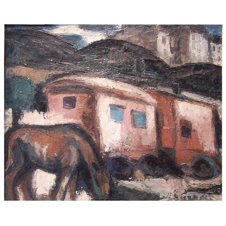 Gio Colucci, Les Roulottes, circa 1930 For Sale