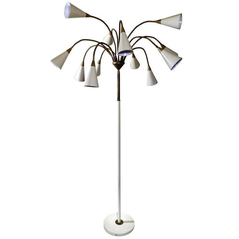 pretty nice 20bca aa0d8 Medusa 12 Shade Floor Lamp in the Style of Stilnovo at 1stdibs