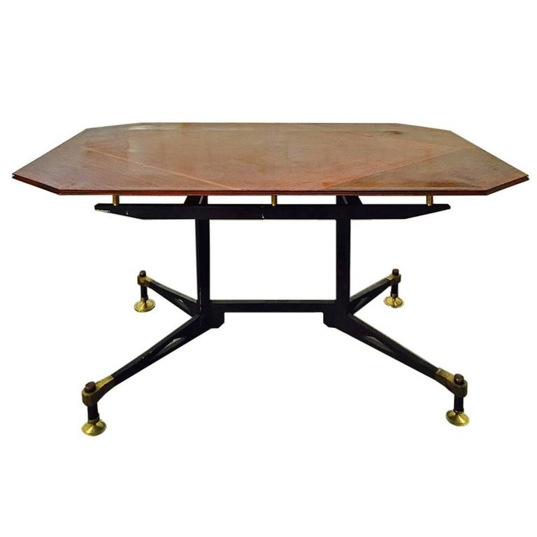 Spectacular Table Desk, attributed Design Ignazio Gardella, 1950 For Sale