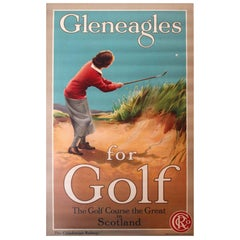 "Early Original Poster ""Gleneagles for Golf - The Caledonian Railway Scotland"""