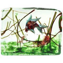 Murano Colorful Fish Italian Art Glass Aquarium Paperweight Sculpture