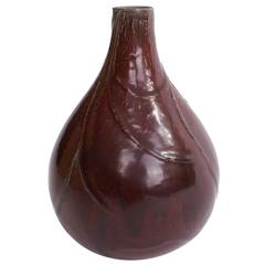 Axel Salto Stoneware Vase in Oxblood Glaze for Royal Copenhagen