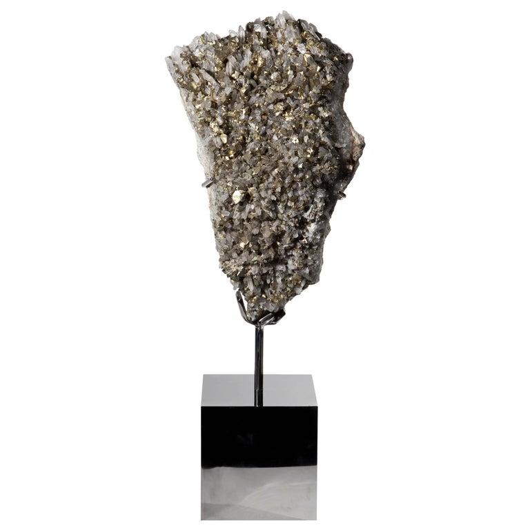 Mounted Quartz and Pyrite