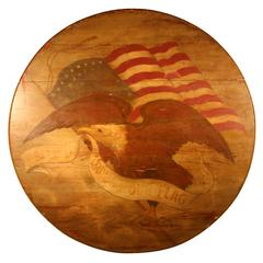 19th Century Wall Plaque Depicting an American Eagle and Flag