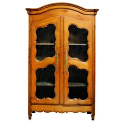 French Louis XV 18th Century French Pale Cherrywood Bookcase, circa 1760