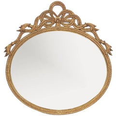 Carved and Gilt Rope Mirror, circa 1940s