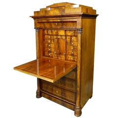 19th Century Biedermeier Danish Bureau Secretary