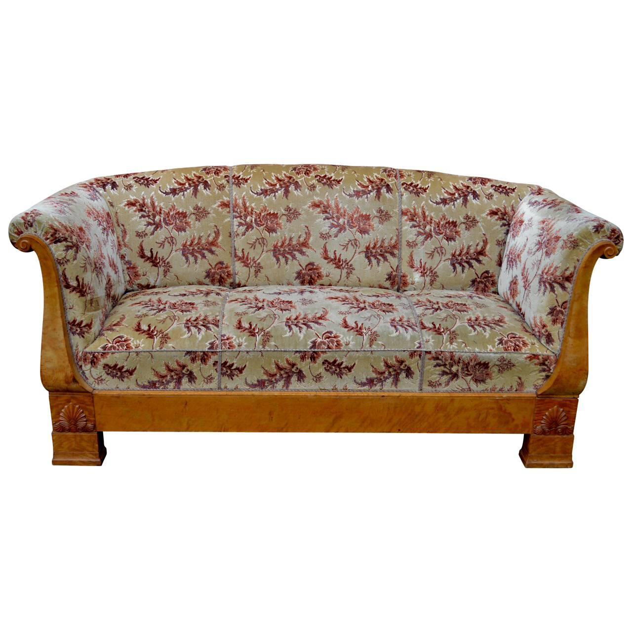 Swedish biedermeier sofa at 1stdibs Biedermeier sofa