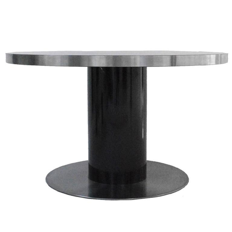 Pedestal Table Designed by Willy Rizzo For Sale