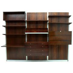 Rare George Nelson CPS Panel System Rosewood, Shelf, Herman Miller, 1967