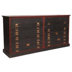 Hand-Painted Turn of the Century Chest