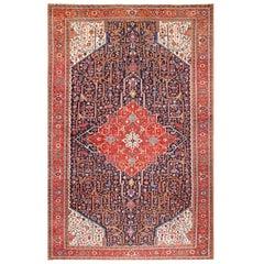 Oversize Antique Persian Heriz Serapi Rug